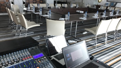 Meeting room conference system & audio recordings